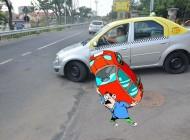 Drumul Estres: Una dintre intrările pe drumul expres le dă şoferilor bătăi de cap din cauza unei pante prea abrupte (FOTO)