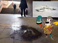Grota Dacia: În pasajul subteran de lângă Podul Dacia au apărut stalagmite și stalactite (FOTO)