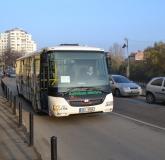 Autobuz electric tamponat in Oradea 1